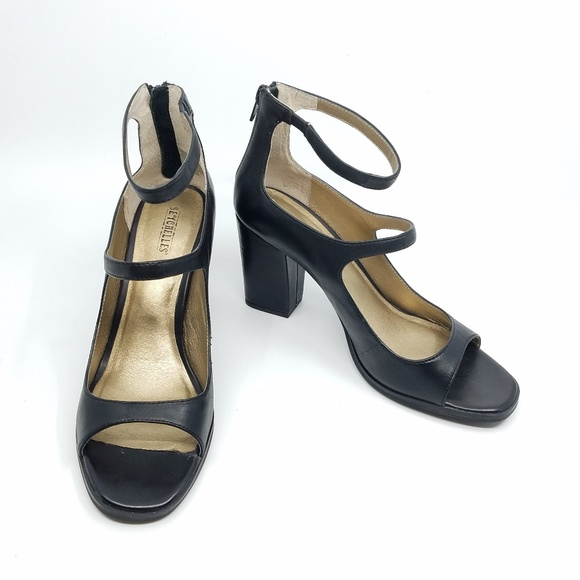 Seychelles Black Leather Heels 8 5